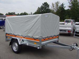 """Pkw Anhänger """"Tema Orange"""" inkl. Plane/Gestell 1,10 m - 750 kg - 2,05x1,25 m"""