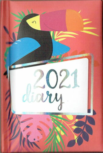 SLIM /& HANDBAG DIARY NICE DESIGNS LADIES GIRLS 2021 WEEK TO VIEW POCKET