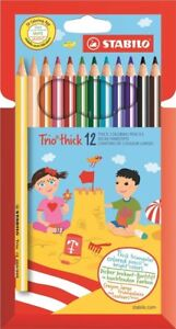 STABILO Trio Thick Colouring Pencils  Assorted Colours Wallet of 12 - Lochgelly, United Kingdom - STABILO Trio Thick Colouring Pencils  Assorted Colours Wallet of 12 - Lochgelly, United Kingdom