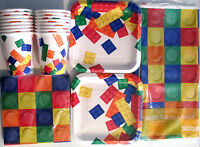 Block Party Lego - Birthday Party Supply Set Pack Kit For 16
