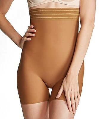 Spanx Assets High Waist Shaping Girl Shorts Brown Bronze Women/'s Size Large L