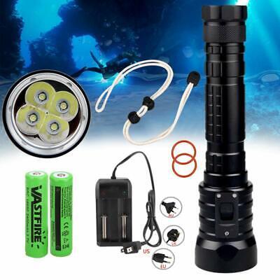 Waterproof 10000LM T6 LED Diving SCUBA Dimming Flashlight Torch Light Light 150m