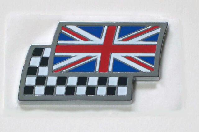 DAG000070 O//E Genuine MG Rover Union Jack /& Chequered Flag Enamel Badge NOS New