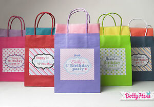 Image Is Loading PERSONALISED CHILDRENS BIRTHDAY PARTY PAPER GIFT BAGS LOOT