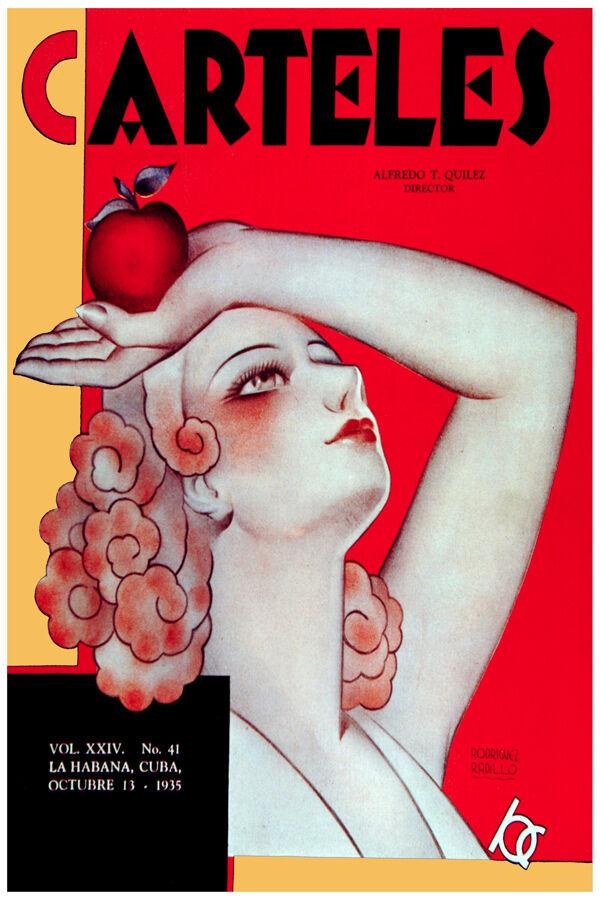 2995.Deco woman holding an apple POSTER.Home decor interior room design art