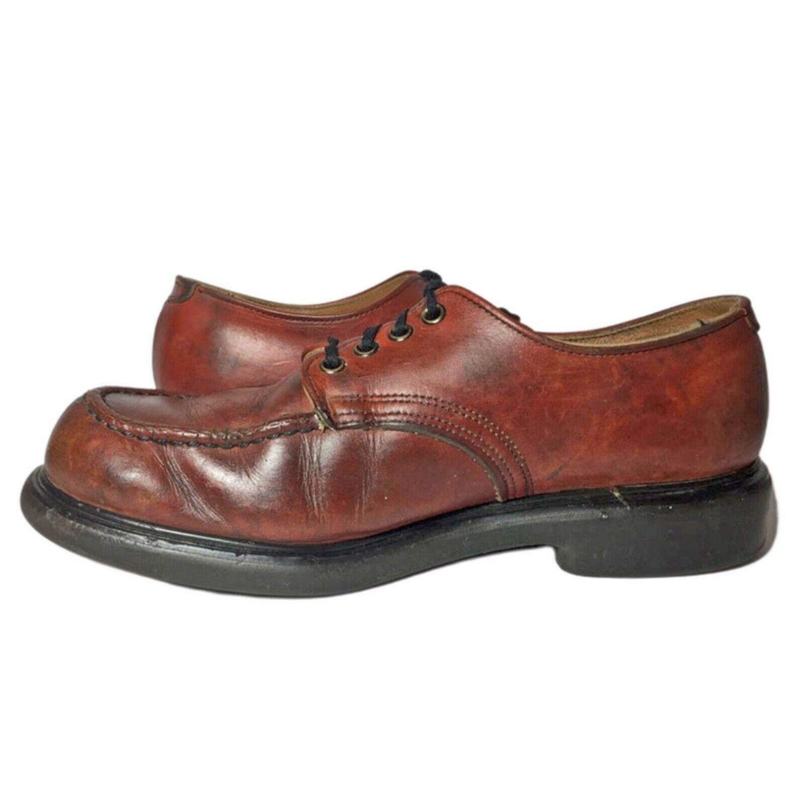 RED WING® Vintage 90's Postman Brown Leather Oxfo… - image 4