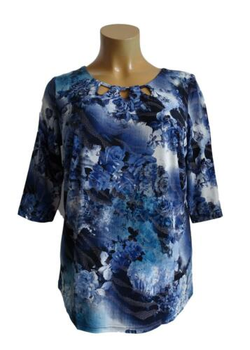 NEU Übergröße ausgefallenes Damen Stretch Shirt toller Ausschnitt Gr.48,50,54