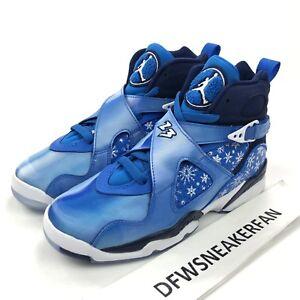 sports shoes f1451 e0a05 Image is loading Nike-Air-Jordan-8-Retro-GS-034-Snowflakes-