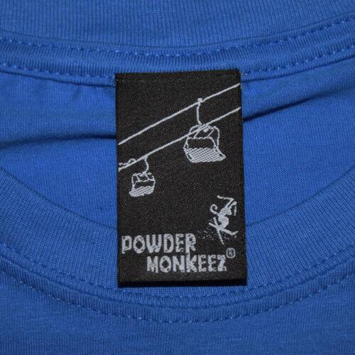 Impulso de elevación de esquí en polvo monkeez T-Shirt latido esquí engranaje Divertido Regalo De Cumpleaños