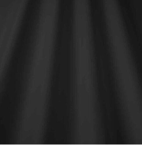 4 M 137 Cm Negro 100/% resistente a la decoloración forro de Cortina de satén de algodón Min