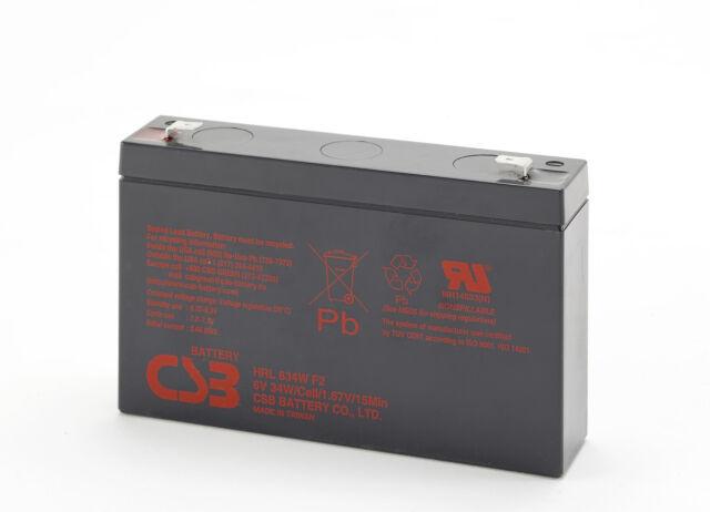 CSB HRL634W 6V 9Ah 34W High Rate 10Yrs Long Service Life SLA UPS Battery