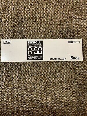 Max Electronic Checkwriter Ink Roll R-50 Black