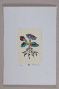nabARus-150114-Pointe-seche-rehaussee-de-rouge-6x9-cm-sur-papier-9x13-cm