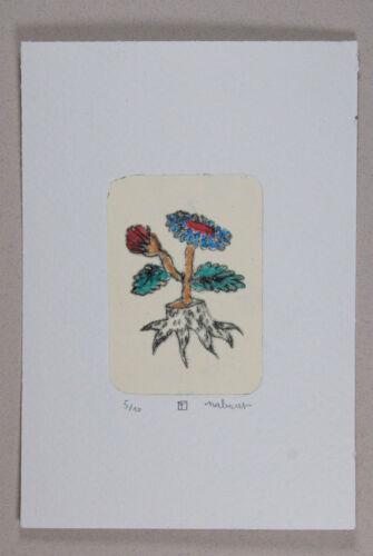 nabARus 150114 Pointe sèche rehaussée de rouge 6x9 cm sur papier 9x13 cm