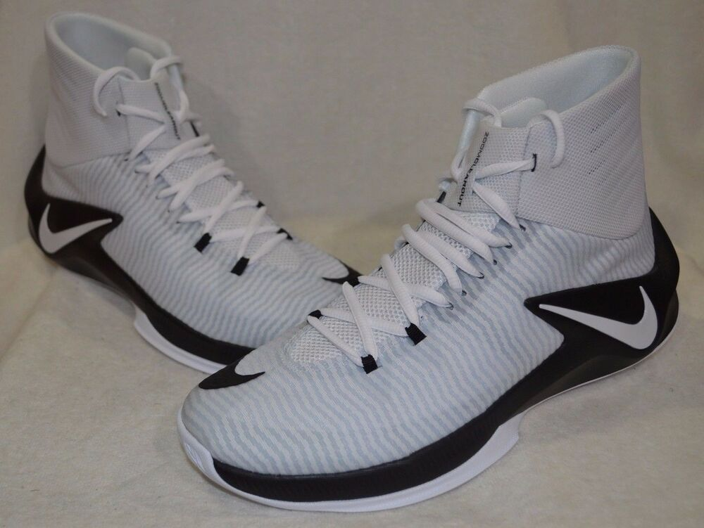 Nike Zoom Clear Out noir/blanc/Platinum homme Basketball chaussures - Asst Tailles NWB