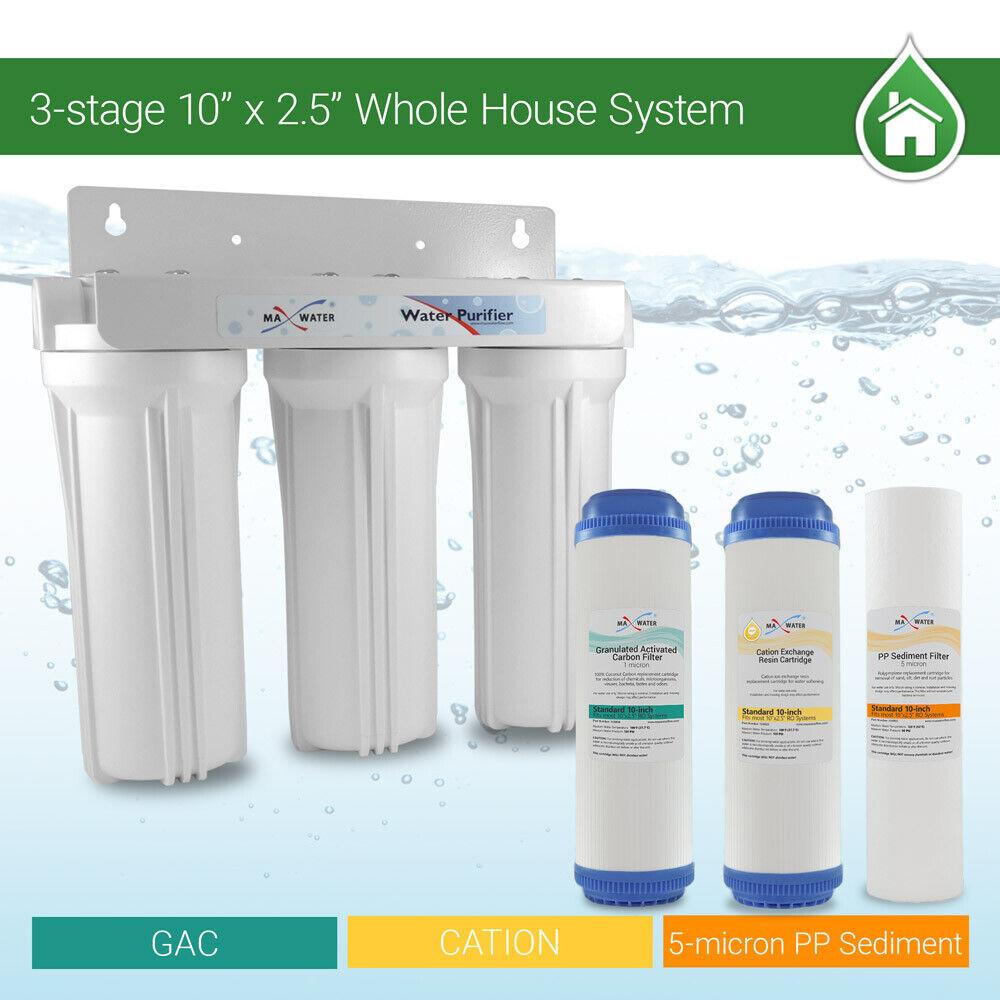 3 Stage 10  maison tout entière adoucisseur d'eau Filtre adoucisseur, réduire supprimer la dureté
