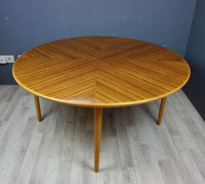 Details Zu Runder Couchtisch Tisch Palisander Rosewood Holz 60er 70er Jahre