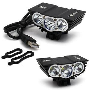 7500lm Solarstorm 3x T6 Led Bicycle Lamp Bike Light Headlight