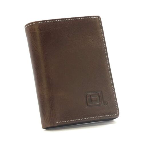 RFID Wallet Trifold for Men Protective Credit Card Holder Shielding Brown Leathe