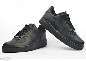 nike air force 1 low junior trainers black