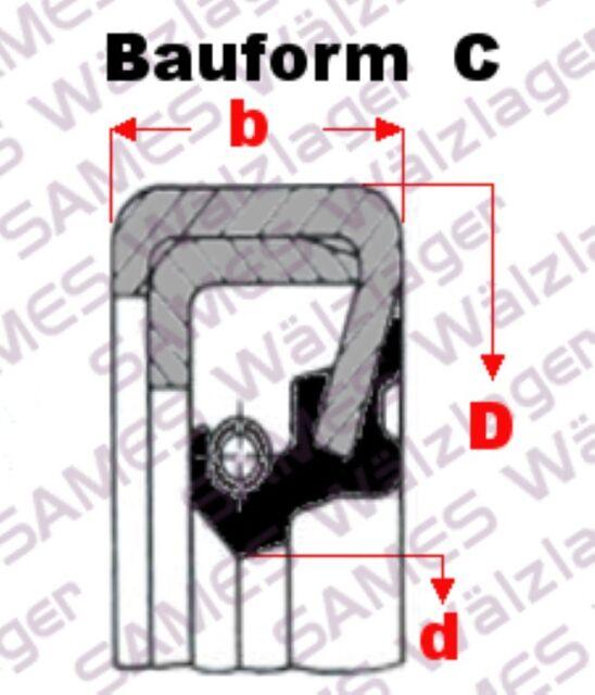 Oil-Seal 1 Stück 18x26x5 AS = Wellendichtring BASL,DASL,TC,WAS Simmerring