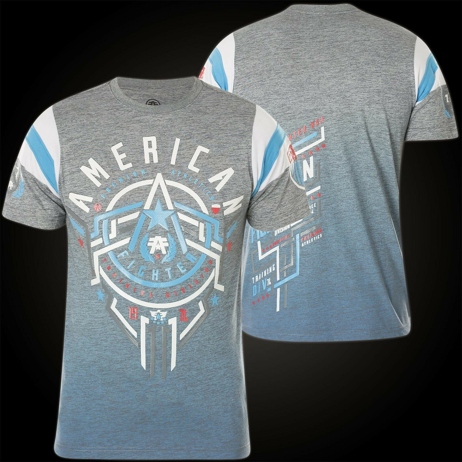 American Fighter by Affliction T-Shirt Philmont Grey bluee