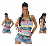 Sexy New Women Clubbing Vest Tank Top Summer Shirt Ladies Blouse Size 6 8 10 12