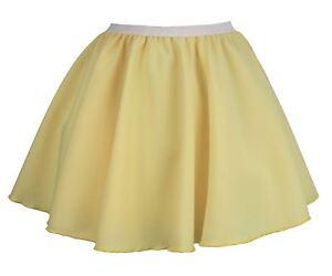 Ladies-Lemon-Yellow-15-034-Skater-Skirt-Full-Circle-Pastel-Fancy-Dress