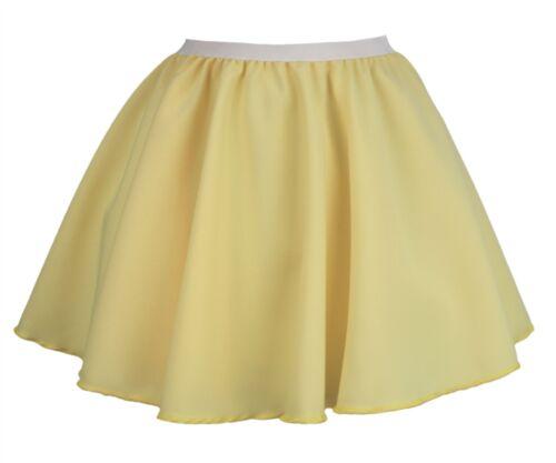 "Ladies Lemon Yellow 15/"" Skater Skirt Full Circle Pastel Fancy Dress"