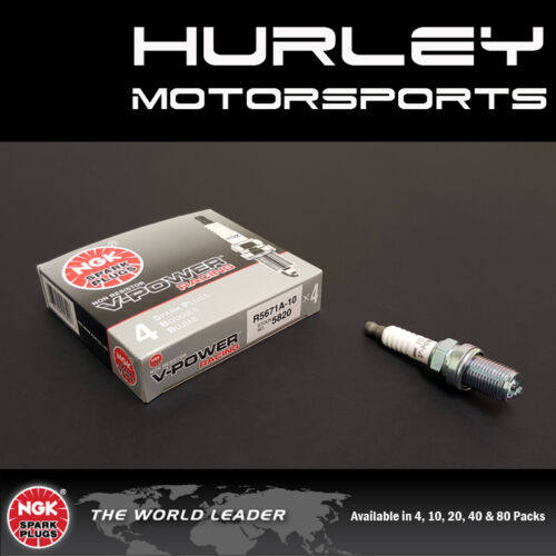 NGK Racing V-Power Spark Plugs 20 R5671A-10 Stock #5820 Qty Solid Tip