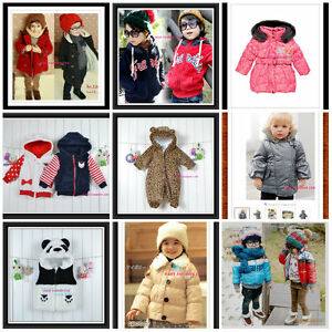 e6dc25174 Toddler Kids Winter Snowsuit Jacket playsuit Size 0-7 Years Old.