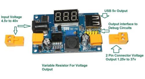 LM2596 dc-dc buck convertisseurstep-down power moduleRASPBERRY Pipsu