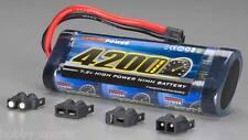 Venom 7.2V 4200mah NiMH Flat Battery w/ 4 Plugs Tamiya Traxxas Deans EC3 VNR1546