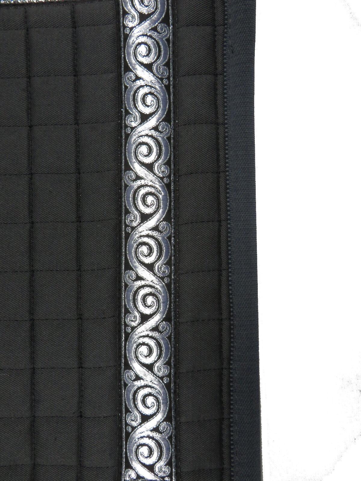 Barroco decrépita sillín manta gris con más bonita cenefa cenefa cenefa y polsterbaren bolsillos 5e5c17