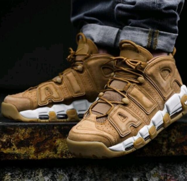 6204873955 SIZE 11.5 MENS NIKE AIR MORE UPTEMPO 96 PREM FLAX BROWN WHEAT PIPPEN AA4060  200