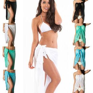 d000a46781a0f Image is loading Coqueta-Wrap-Women-Chiffon-Cover-Up-Sarong-Pareo-