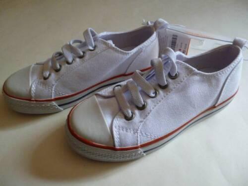 Gymboree Denim /& Tees White Baseball Slip on Shoes Youth Size 9 10 12 13 1 NEW