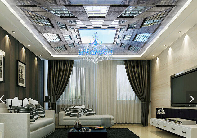 3D High Building 743 Ceiling WallPaper Murals Wall Print Decal Deco AJ WALLPAPER