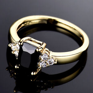 24K-Yellow-Gold-Filled-Band-Flower-Black-Crystal-Onyx-Women-Party-Banquet-Rings