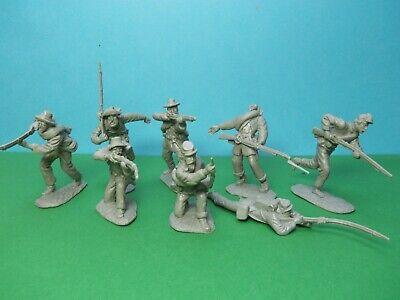 butternut Marx 1//32 scale ACW Confederate Infantry x22