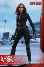 HOT TOYS CAPTAIN AMERICA CIVIL WAR - BLACK WIDOW VEDOVA NERA SIXTH SCALE NUOVA