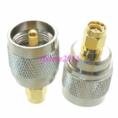 1pce Adapter Connector UHF PL259 male plug to SMA male plug for Radios