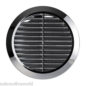 Chrome-Circle-Air-Vent-Grille-Adjustable-Ducting-100mm-4-034-125mm-5-034-150mm-6-034-T36M
