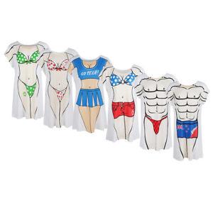 79e0ff9e35 Funny Novelty Muscle Man Bikini Printed Dress Cover-Up Beach Fancy T ...