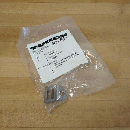 Turck MBSS-08 Stainless Steel Right Angle Mounting Bracket For 8mm Sensor - NEW