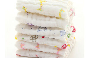 Baby-Cotton-Gauze-Towel-Towel-Wash-Cloth-Handkerchiefs-Feeding-Saliva-Towel-IO