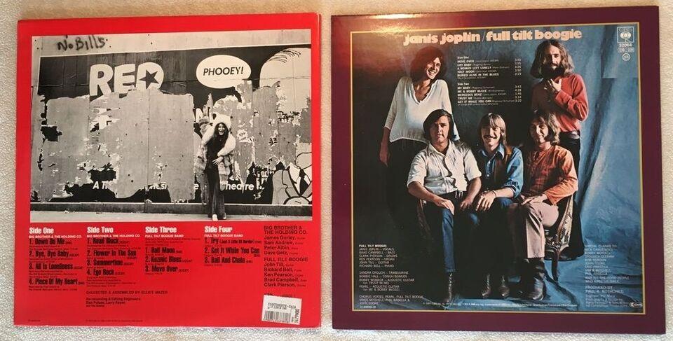 LP, Janis Joplin, In Concert + Pearl