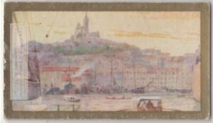 Marseilles-France-View-From-Harbor-90-Y-O-Ad-Trade-Card