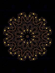 PAINTING-ABSTRACT-CONCENTRIC-SYMMETRY-DESIGN-POLYGON-FLORAL-POSTER-BMP11310