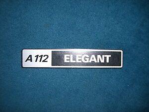 Emblem-Badge-Autobianchi-A-112-Elegant-ca-14-x-2-5-cm